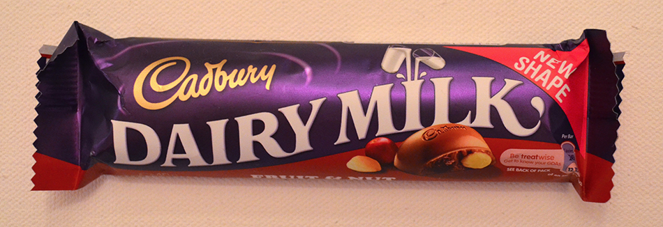 British Cadbury Dairy Milk Fruit and Nut