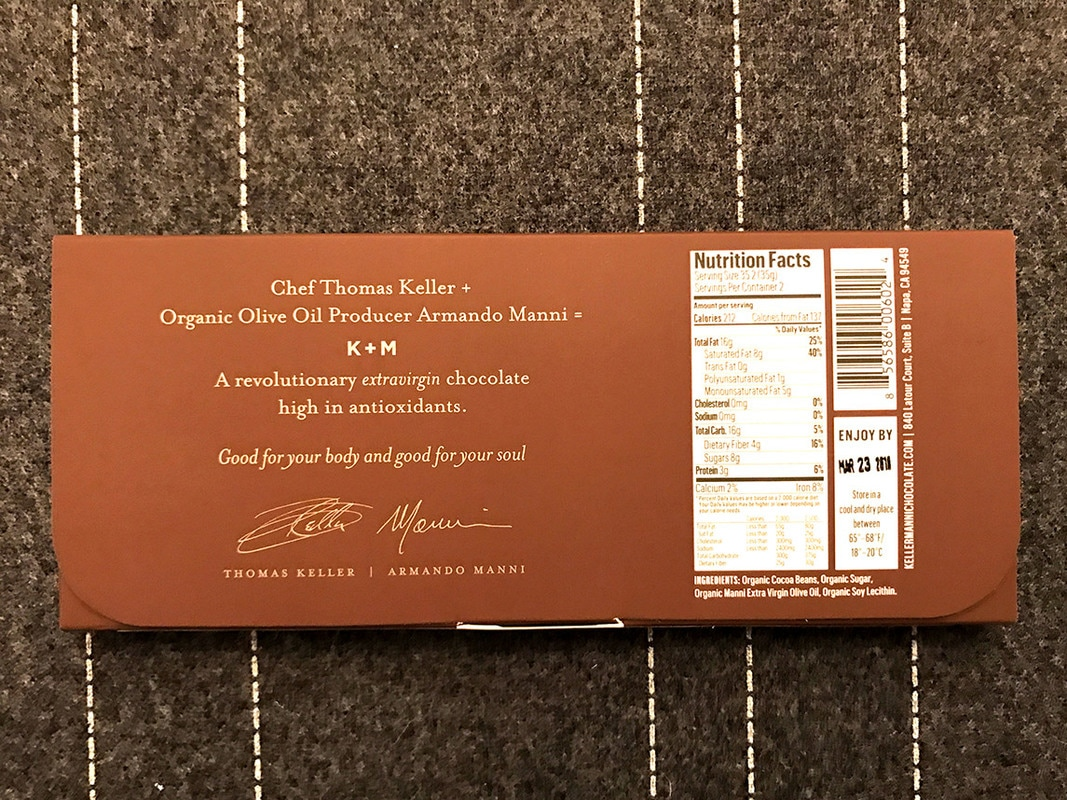 K+M Extravirgin Chocolate Packaging